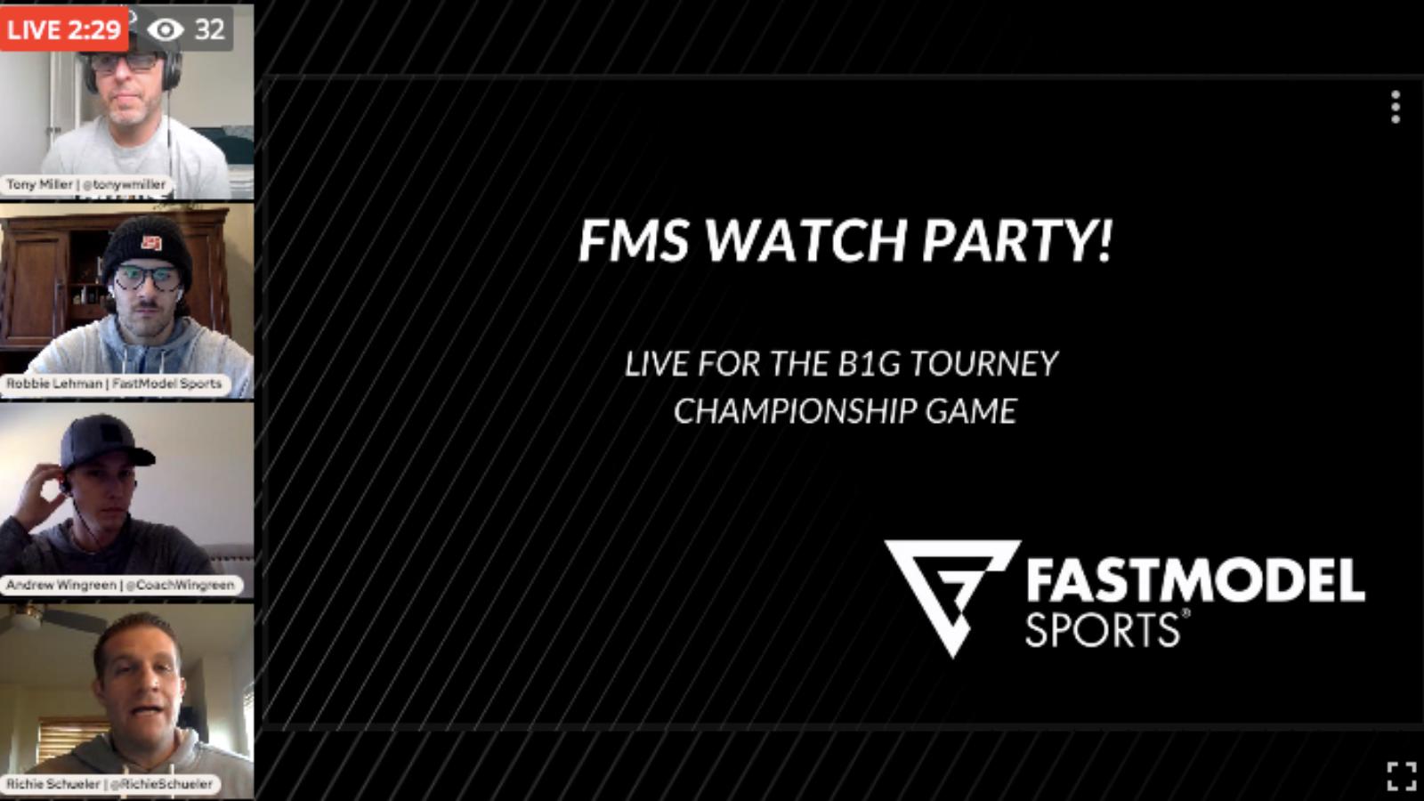 FMS Watch Party XsOs live Big Ten Tourney Illinois Ohio State