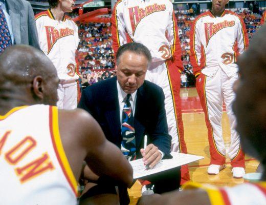 Lenny Wilkens, Atlanta Hawks, FastModel Sports, coaching, basketball play diagrams, offense